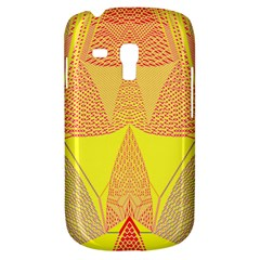 Wave Chevron Plaid Circle Polka Line Light Yellow Red Blue Triangle Galaxy S3 Mini by Mariart