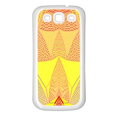 Wave Chevron Plaid Circle Polka Line Light Yellow Red Blue Triangle Samsung Galaxy S3 Back Case (white) by Mariart