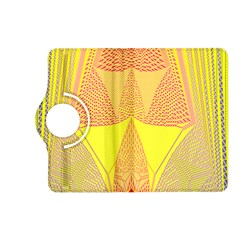Wave Chevron Plaid Circle Polka Line Light Yellow Red Blue Triangle Kindle Fire Hd (2013) Flip 360 Case by Mariart