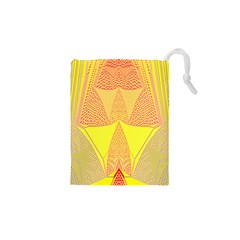 Wave Chevron Plaid Circle Polka Line Light Yellow Red Blue Triangle Drawstring Pouches (xs)  by Mariart