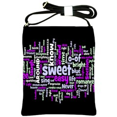 Writing Color Rainbow Sweer Love Shoulder Sling Bags by Mariart