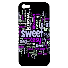 Writing Color Rainbow Sweer Love Apple Iphone 5 Hardshell Case by Mariart