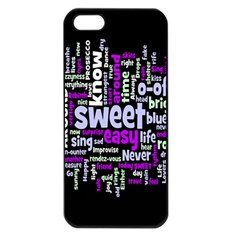 Writing Color Rainbow Sweer Love Apple Iphone 5 Seamless Case (black) by Mariart