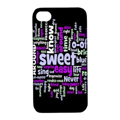 Writing Color Rainbow Sweer Love Apple Iphone 4/4s Hardshell Case With Stand by Mariart