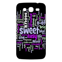 Writing Color Rainbow Sweer Love Samsung Galaxy Mega 5 8 I9152 Hardshell Case  by Mariart