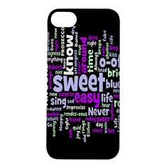 Writing Color Rainbow Sweer Love Apple Iphone 5s/ Se Hardshell Case by Mariart