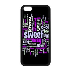 Writing Color Rainbow Sweer Love Apple Iphone 5c Seamless Case (black) by Mariart