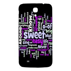 Writing Color Rainbow Sweer Love Samsung Galaxy Mega I9200 Hardshell Back Case by Mariart