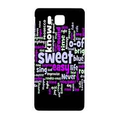 Writing Color Rainbow Sweer Love Samsung Galaxy Alpha Hardshell Back Case by Mariart