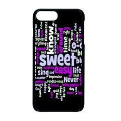 Writing Color Rainbow Sweer Love Apple Iphone 7 Plus Seamless Case (black) by Mariart