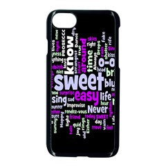 Writing Color Rainbow Sweer Love Apple Iphone 7 Seamless Case (black) by Mariart