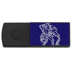 Aquarius Zodiac Star Usb Flash Drive Rectangular (4 Gb) by Mariart