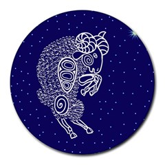 Aries Zodiac Star Round Mousepads by Mariart