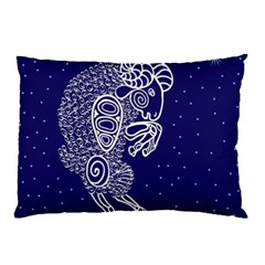 Aries Zodiac Star Pillow Case by Mariart