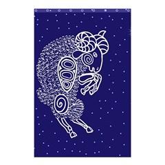 Aries Zodiac Star Shower Curtain 48  X 72  (small)  by Mariart