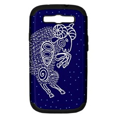 Aries Zodiac Star Samsung Galaxy S Iii Hardshell Case (pc+silicone) by Mariart