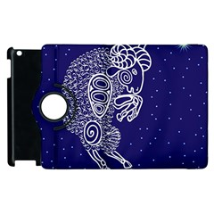 Aries Zodiac Star Apple Ipad 2 Flip 360 Case by Mariart