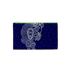 Aries Zodiac Star Cosmetic Bag (xs) by Mariart
