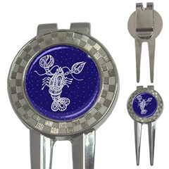 Cancer Zodiac Star 3 In 1 Golf Divots by Mariart