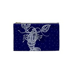 Cancer Zodiac Star Cosmetic Bag (small)  by Mariart