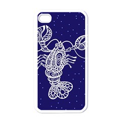 Cancer Zodiac Star Apple Iphone 4 Case (white) by Mariart