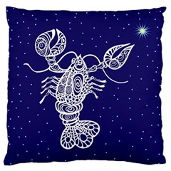 Cancer Zodiac Star Large Flano Cushion Case (two Sides) by Mariart