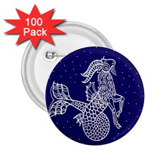 Capricorn Zodiac Star 2 25  Buttons (100 Pack)  by Mariart