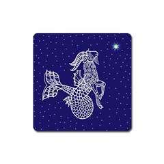 Capricorn Zodiac Star Square Magnet by Mariart
