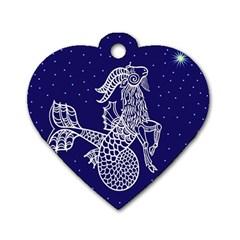 Capricorn Zodiac Star Dog Tag Heart (one Side) by Mariart