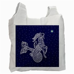Capricorn Zodiac Star Recycle Bag (one Side) by Mariart