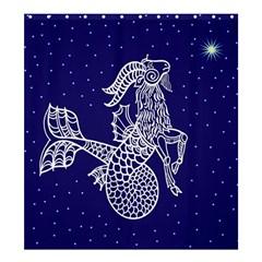 Capricorn Zodiac Star Shower Curtain 66  X 72  (large)  by Mariart