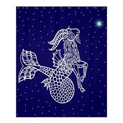 Capricorn Zodiac Star Shower Curtain 60  X 72  (medium)  by Mariart
