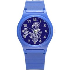 Capricorn Zodiac Star Round Plastic Sport Watch (s) by Mariart