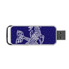 Capricorn Zodiac Star Portable Usb Flash (two Sides) by Mariart