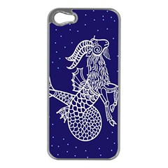 Capricorn Zodiac Star Apple Iphone 5 Case (silver) by Mariart