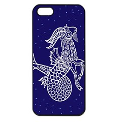 Capricorn Zodiac Star Apple Iphone 5 Seamless Case (black) by Mariart