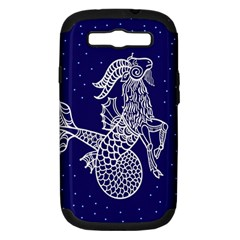 Capricorn Zodiac Star Samsung Galaxy S Iii Hardshell Case (pc+silicone) by Mariart