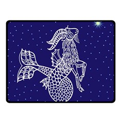 Capricorn Zodiac Star Double Sided Fleece Blanket (small)  by Mariart
