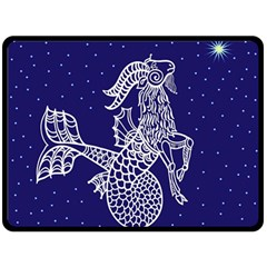 Capricorn Zodiac Star Double Sided Fleece Blanket (large)  by Mariart
