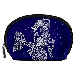 Capricorn Zodiac Star Accessory Pouches (large)  by Mariart