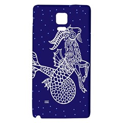 Capricorn Zodiac Star Galaxy Note 4 Back Case by Mariart