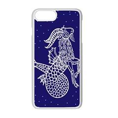 Capricorn Zodiac Star Apple Iphone 7 Plus White Seamless Case by Mariart