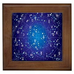 Astrology Illness Prediction Zodiac Star Framed Tiles by Mariart