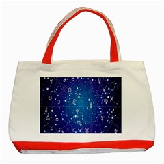 Astrology Illness Prediction Zodiac Star Classic Tote Bag (red)