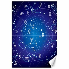 Astrology Illness Prediction Zodiac Star Canvas 24  X 36  by Mariart