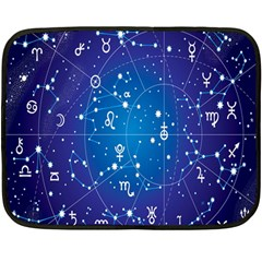 Astrology Illness Prediction Zodiac Star Fleece Blanket (mini) by Mariart