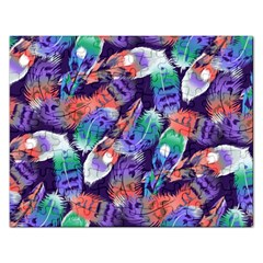 Bird Feathers Color Rainbow Animals Fly Rectangular Jigsaw Puzzl by Mariart