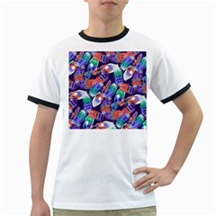 Bird Feathers Color Rainbow Animals Fly Ringer T Shirts by Mariart