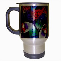 Bird Feathers Color Rainbow Animals Fly Travel Mug (silver Gray) by Mariart