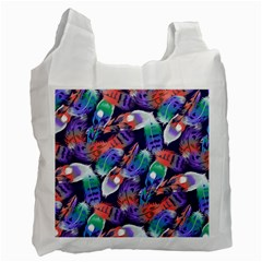 Bird Feathers Color Rainbow Animals Fly Recycle Bag (one Side) by Mariart